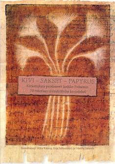 Kivi – sakset – papyrus
