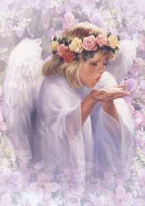 Tuotekuva: Angel with Roses - Enkeli ruusujen kanssa