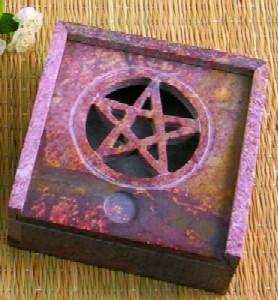Tuotekuva: Kivinen suitsukepidin / astia pentagrammilla