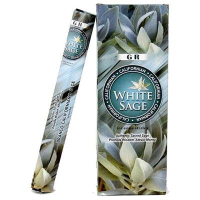 Tuotekuva: Valkoinen salvia -suitsuketikut
