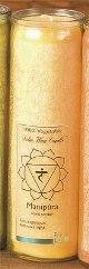 Tuotekuva: Chakra-kynttilä, kultainen Manipura