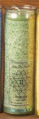 Tuotekuva: Chakra-kynttilä, vihreä Anahata