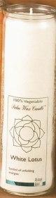 Tuotekuva: Chakra-kynttilä, valkoinen White Lotus