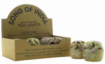 Tuotekuva: 6 tuoksukynttilää vuolukivisissä astioissa
