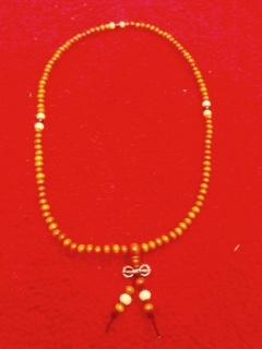 Tuotekuva: Santelipuiset mala ja pieni dorje meditaatiohelmet 58 cm16 cm