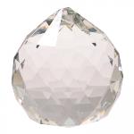 Tuotekuva: Kirkas pallo, hiottua lasia, 2 cm